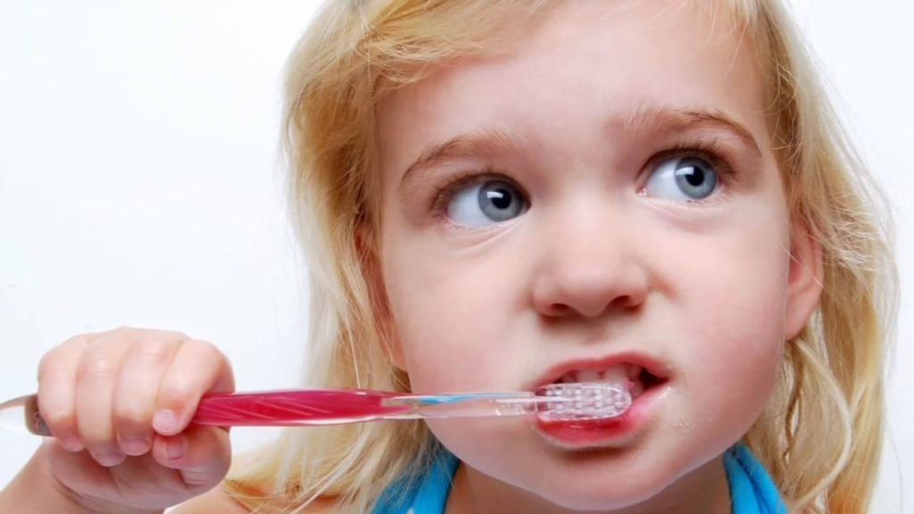 bad habits oral health over brushing teeth